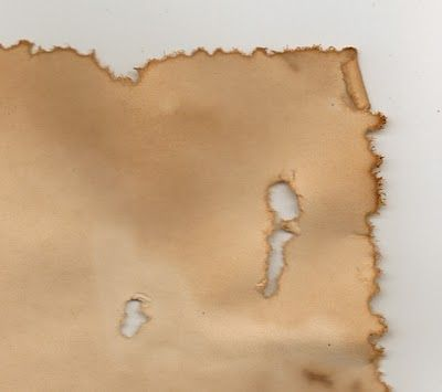 How to age paper with ragged edges