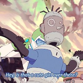 """Pidge's Garbage Buddies - Lance - 2x01 << I love that """"Voltron Trash"""" is now cannon"""