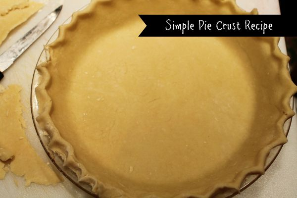 "Can't make pie crust to ""save your life""? Try your hand at this simple pie crust recipe and you will be a pro in no time."