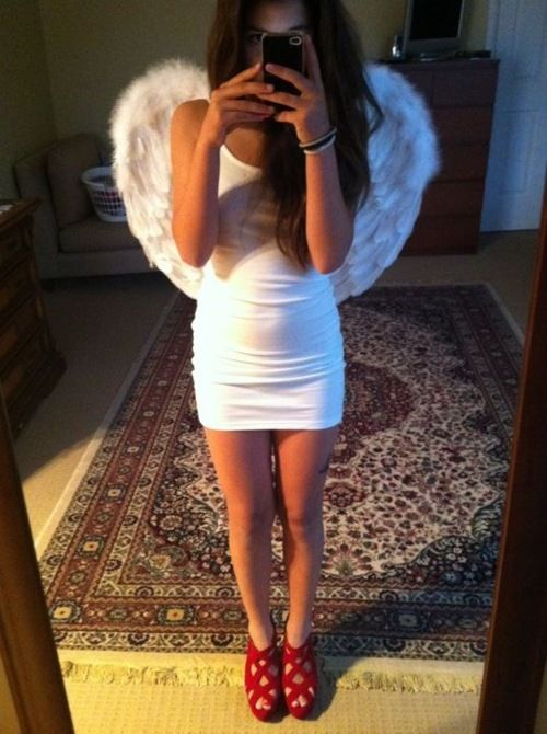 angel costume, perfect but with white flats