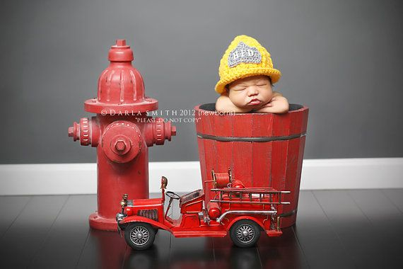 Fireman Hat   Baby Toddler Child Girl Boy Photo Props