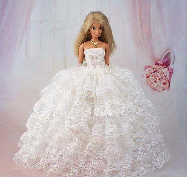Как сделать пышное платье барби