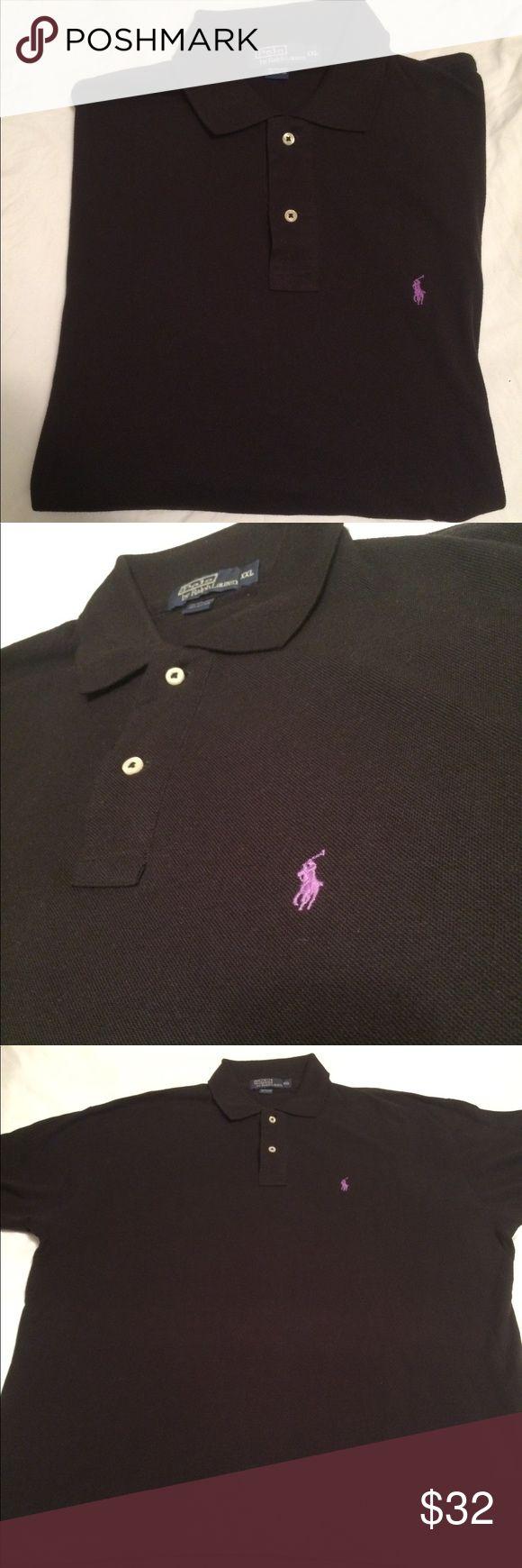 Ralph Lauren polo shirt 2XL Black Ralph Lauren polo shirt 2XL Black with purple polo horse.                                                              Condition Good Polo by Ralph Lauren Shirts Polos