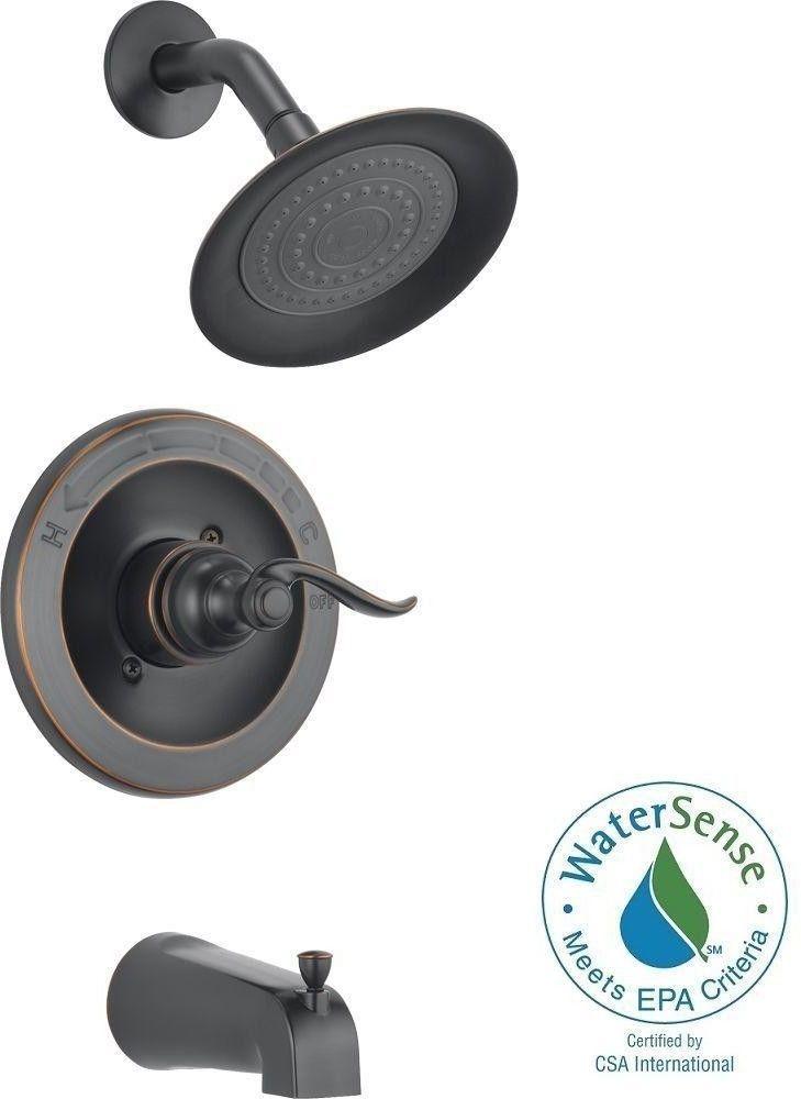 Delta Windemere Oil Rubbed Bronze Single Handle Tub Shower Faucet