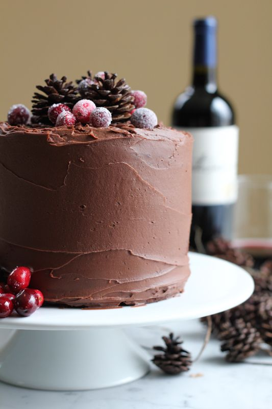 Chocolate Merlot Cake. Rich, fudgy, chocolatey goodness . . . with a hint of Merlot. You need to try this cake. #chocolatemerlotcake #valentinesday