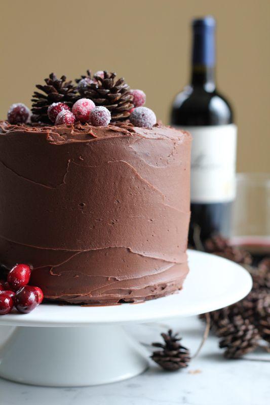 Chocolate Merlot Cake. Rich, fudgy, chocolatey goodness . . . with a hint of Merlot. You need to try this cake. #chocolatemerlotcake #valentinesday