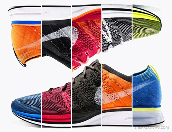 Nike welcomes the 2012 Summer Olympics by releasing its newest running shoe:  the Nike Flyknit Trainer+.