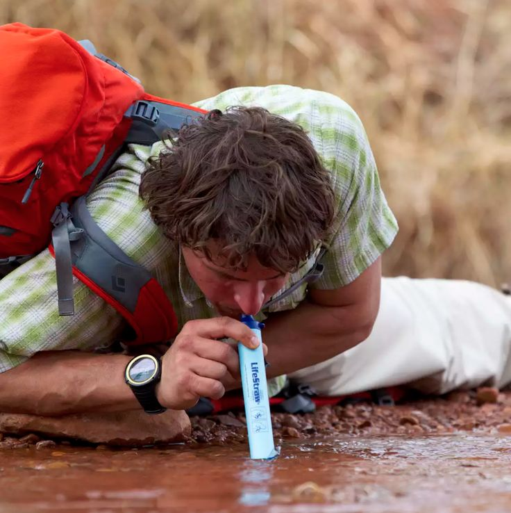 Lifestraw - drink any water, filtered by coal.
