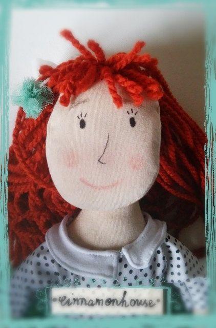Mint ballerina  handmade  oryginal  doll in  by cinnamonnhouse