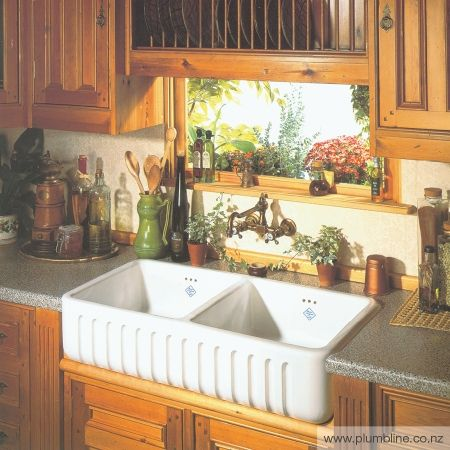 Ribchester 800 Double Butler Sink - Butler Sinks - Kitchen