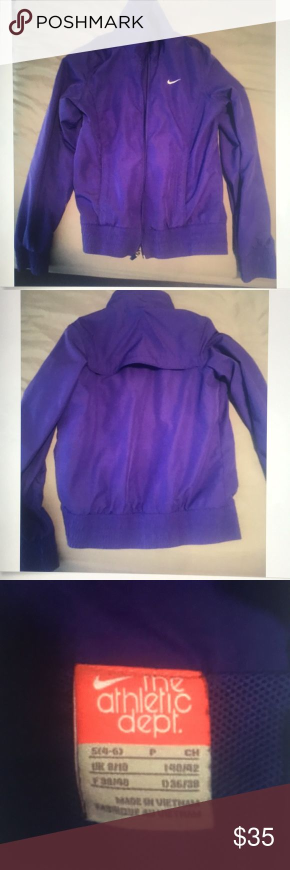 Women's Purple Nike Zip Up Size Small In great condition! Nike Jackets & Coats