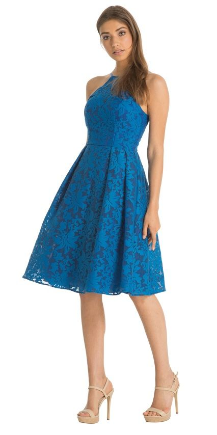Chi Chi London společenské šaty Jules, modré - PoshMe.cz