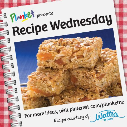 facebook This Almond energy slice from Wattie's NZ and ForBaby New Zealand makes a great addition to the lunchbox or is an ideal afternoon 'pick-me-up' snack. #recipeWednesday