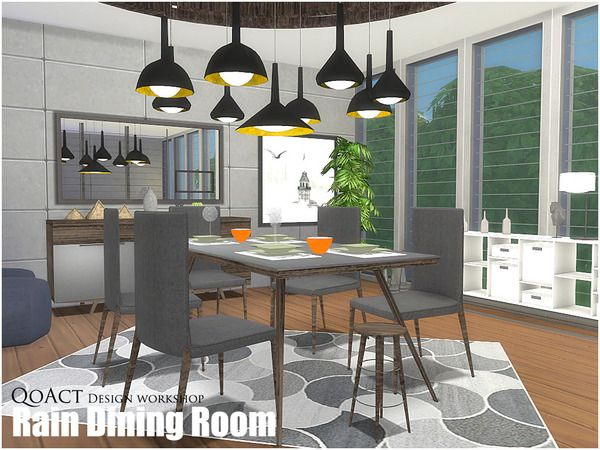 The Sims Resource Rain Dining Room By QoAct