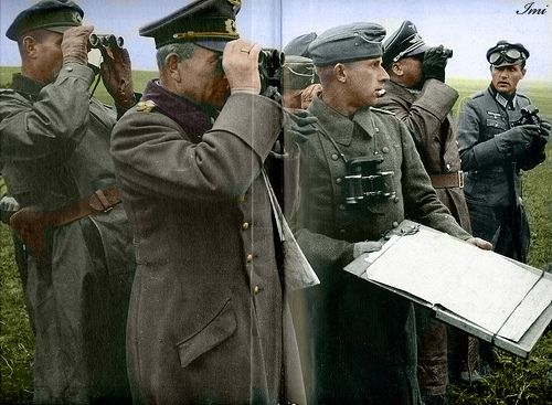 German general at the front with his staff.