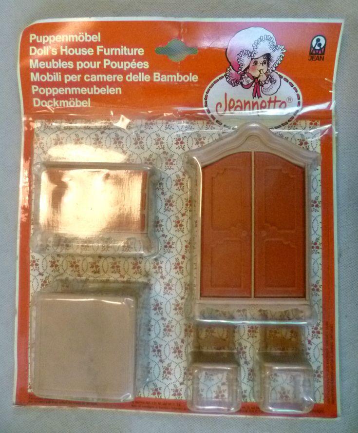 Vintage Dolls House Carded Jean Of West Germany Jeanette Plastic Furniture Set | eBay