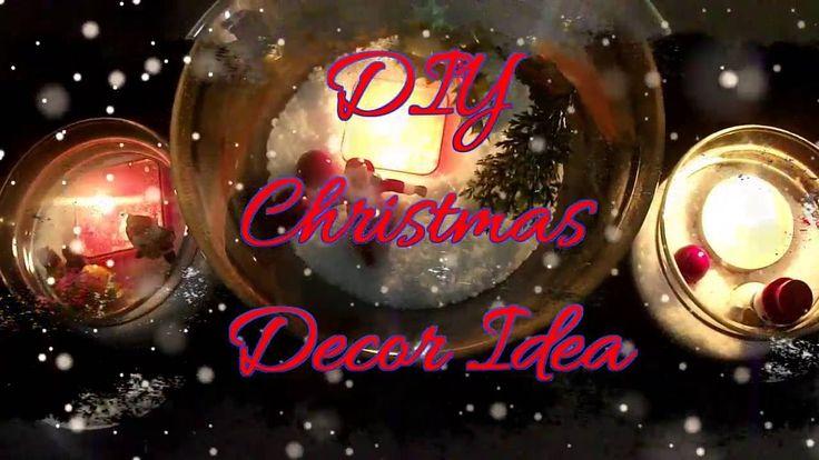 Christmas 2016 - DIY Christmas Decor idea/Χριστουγεννιάτικη Γυάλα
