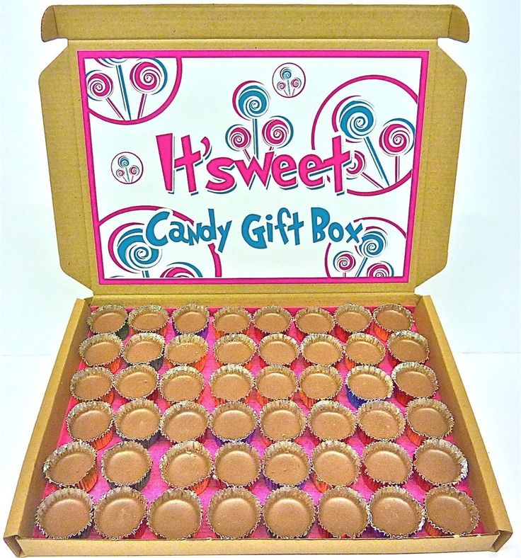 ICY CUPS RETRO CHOCOLATE CUPCAKES X48 CANDY POSTAL GIFT BOX PRESENT BY IT SWEET