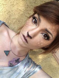 Leda monster bunny deer makeup DIY