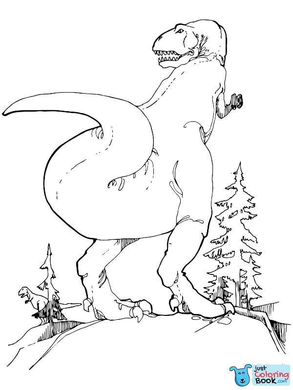 Gorgosaurus Tyrannosaurid Theropod Dinosaur Coloring Pages