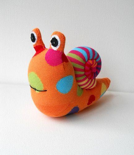 sock snail | Sock toys | Sock monster, Diy sock toys, Sock toys