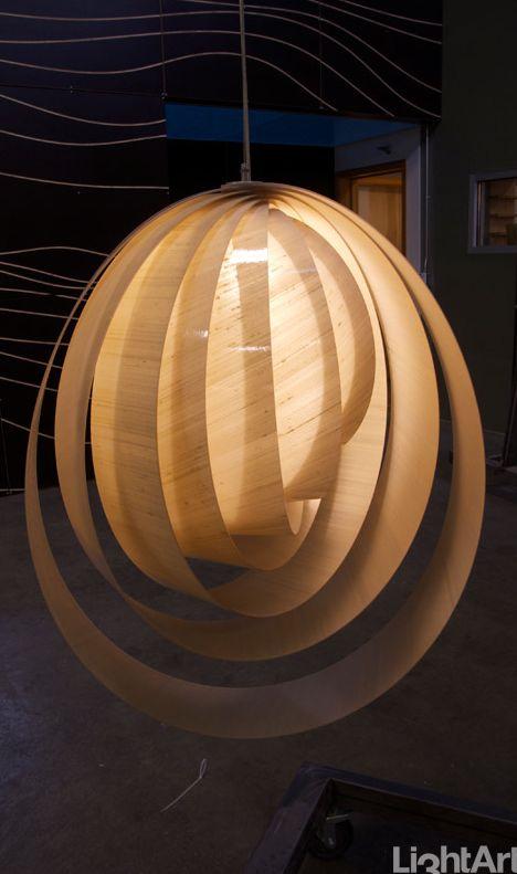 FRENCH CURVE PENDANT dupioni ecru #MaterialRepublic #3form #Lighting #InteriorDesign