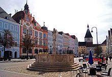 Braunau am Inn's town square (Hitler's birthplace), Austria.