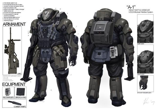modern armor | Starship Troopers Power Armor | Project 4 ...