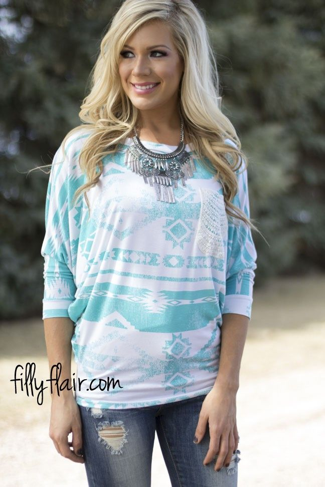 Mint on Me Dolman! Get yours at Filly Flair!