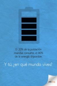 El 20% de la población mundial consume el 80% de la energía disponible. Y tú, ¿en qué mundo vives?