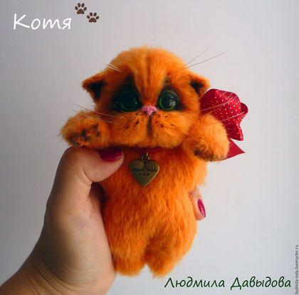 Crochet toy cat / Людмила Давыдова , рыжий котенок, рыжая кошка, рыжий кот, игрушка рыжий котенок, мягкая игрушка, игрушка ручной работы, вязаная игрушка, котенок вязаный, купить игрушку кошку, рыжий котенок купить