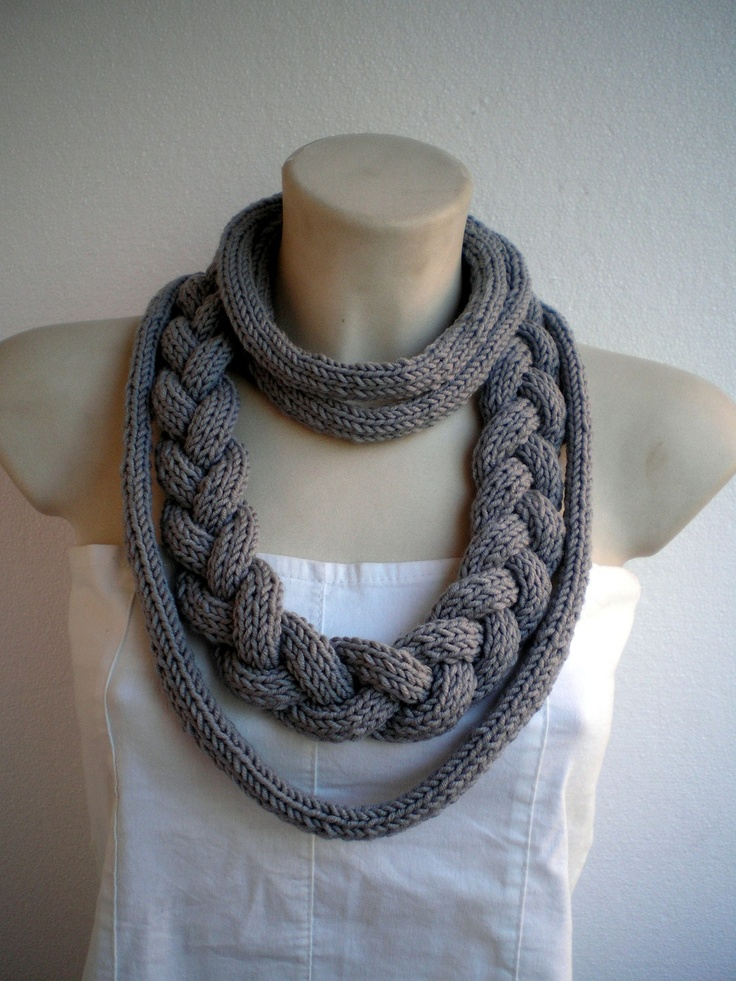 Jolly Necklace pure merino wool Knit Necklace Woman Stylish  Colar