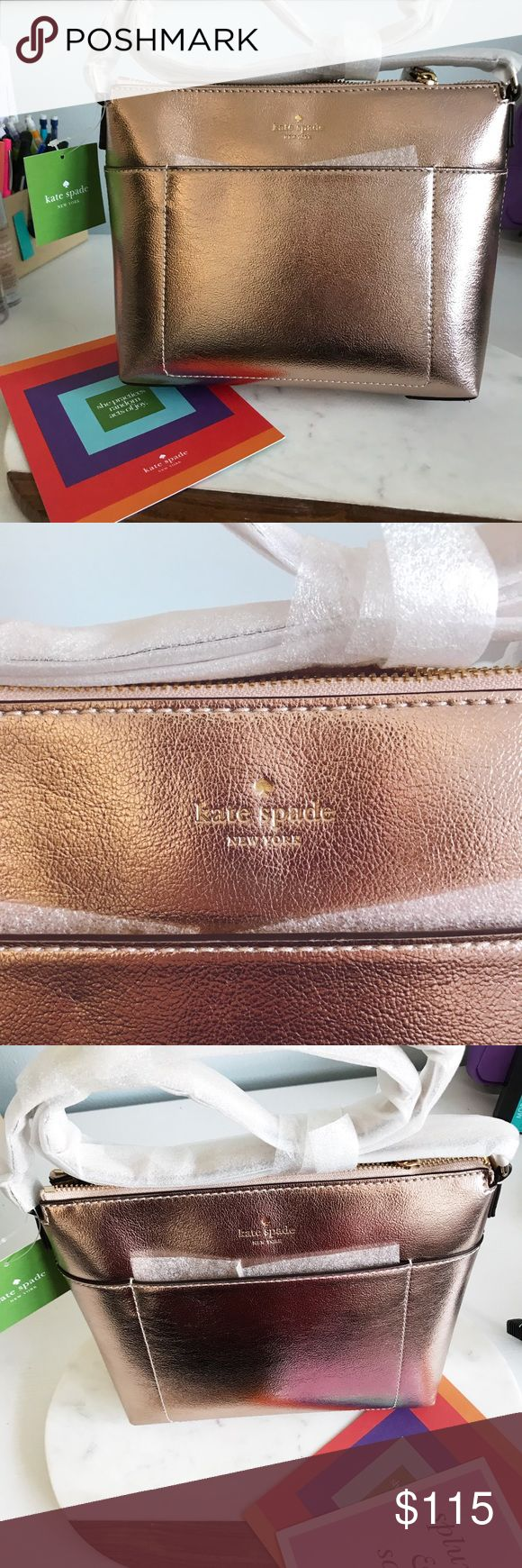 Kate Spade 'holiday lane evie' bag NWT rose gold Kate Spade 'holiday lane evie' bag • make me an offer!! Size details and photos from Nordstrom website, lowest price for this bag on Poshmark! kate spade Bags Satchels