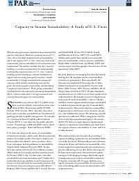 Capacity to Sustain Sustainability: A Study of U.S. Cities - Wang - 2012 - Public Administration Review - Wiley Online Library