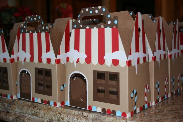 Favors at a Gingerbread Christmas party!  See more party ideas at CatchMyParty.com!  #partyideas #christmas