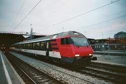 Der alte Steuerwagen der SBB, am 12.10.03 im Bahnhof Zürich