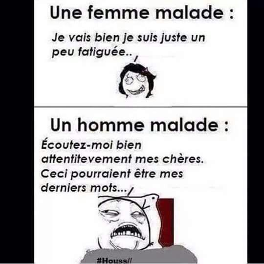 image drole homme malade