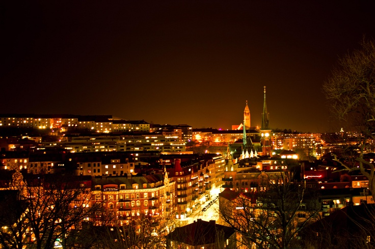 Haga, Gothenburg at night