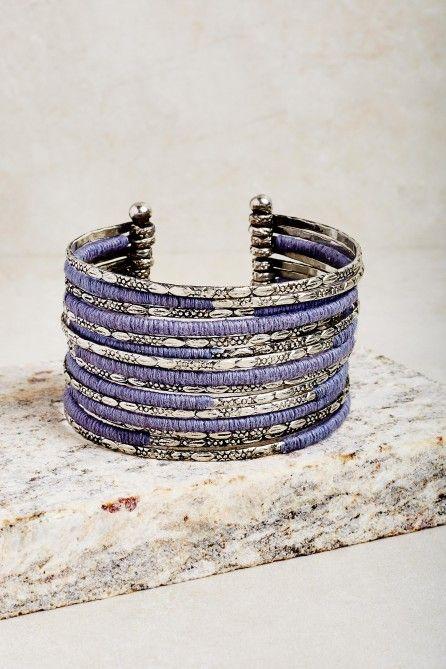 Bleu et argent Bracelet en perles