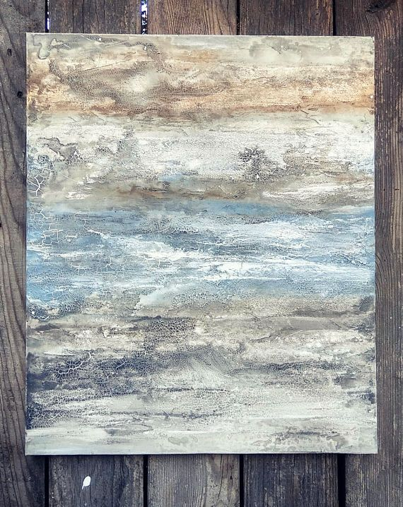 Distressed Textured Abstract Painting 20 x 24 Canvas Art