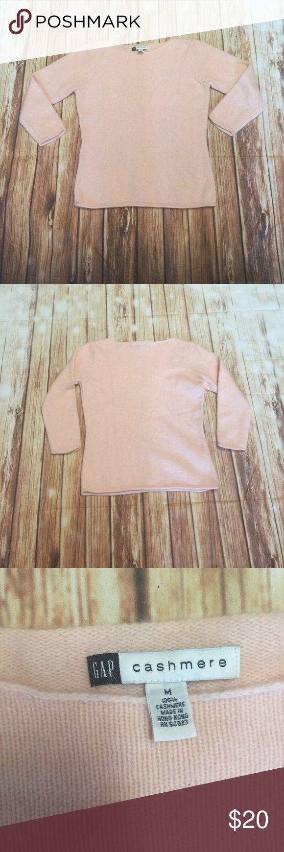 "Gap women's 100% cashmere sweater pink size m Length 22"" armpit to armpit 18"" GAP Sweaters Crew & Scoop Necks"