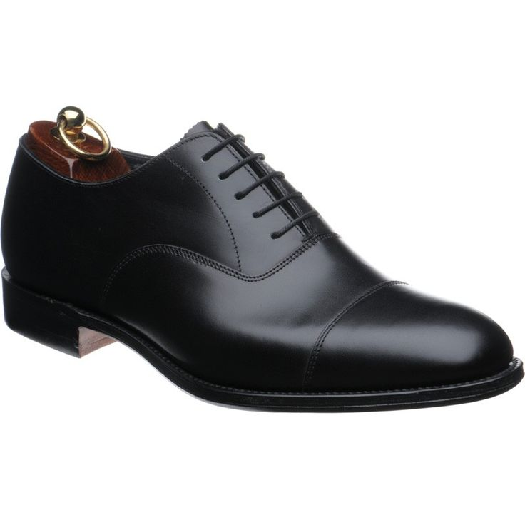 "Herring ""Knightsbridge"" black captoe oxford shoes"