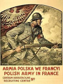 Plakat z czasów II WŚ.