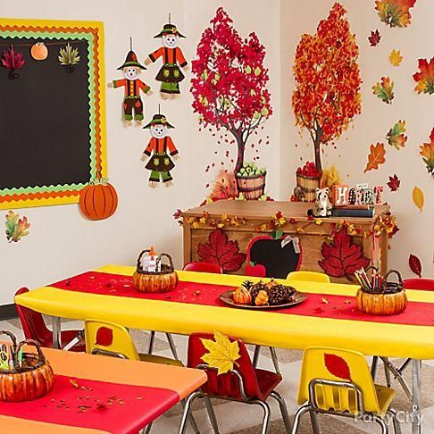 32 best images about fall decor on pinterest fall home for Art classroom decoration ideas