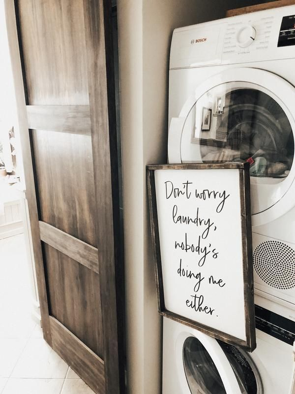 Don T Worry Laundry Nobody S Doing Me Either Funny Wood Sign Funny Wood Signs Wood Signs Farmhouse Decor Living Room