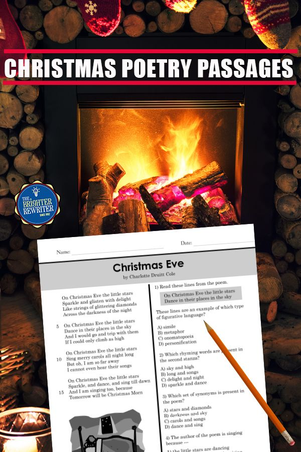 Christmas Poetry Passages Christmas Activities Poetry