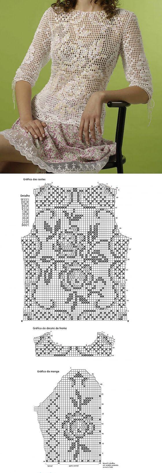 Weiße Rose - Filethäkelei