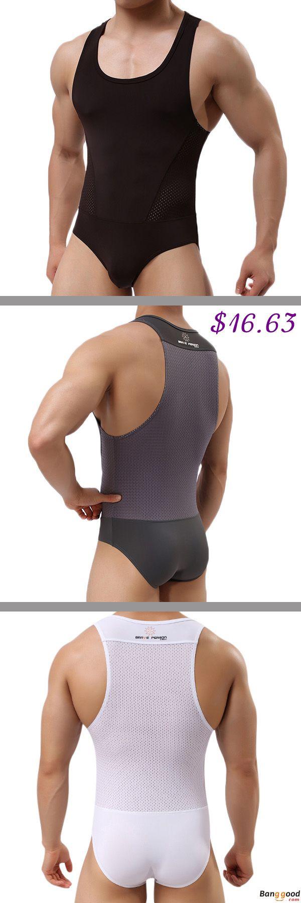 US$16.63 + Free Shipping. Men's Sexy Bodysuit Wrestling Onesie Transparent Mesh Lingerie Wrestling Leotard Hot Bodysuit. Color: White, Gray, Black, Coffee. Onepiece Sexy Underwear.
