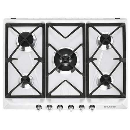Smeg SR975BGH Victoria 70cm White 5 Burner Gas Hob | Appliances Direct
