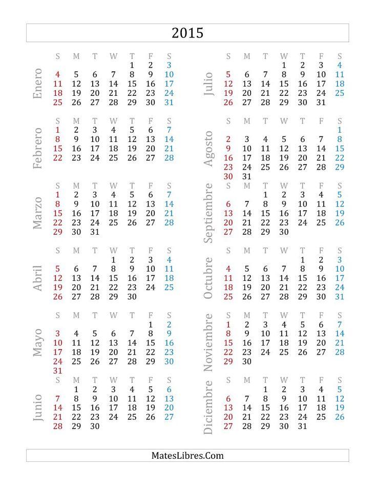 one page 2017 calendar printable